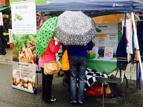 Edmonds Fair under umbrellas