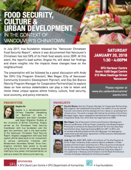 Food Security, Culture and Urban Development in the Context of Vancouver's Chinatown Event